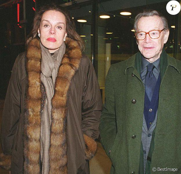 Catherine Nay et Albin Chalandon au Centre Georges Pompidou, exposition d'art moderne américain le 18 janvier 2000. © Bertrand Rindoff Petroff/Bestimage