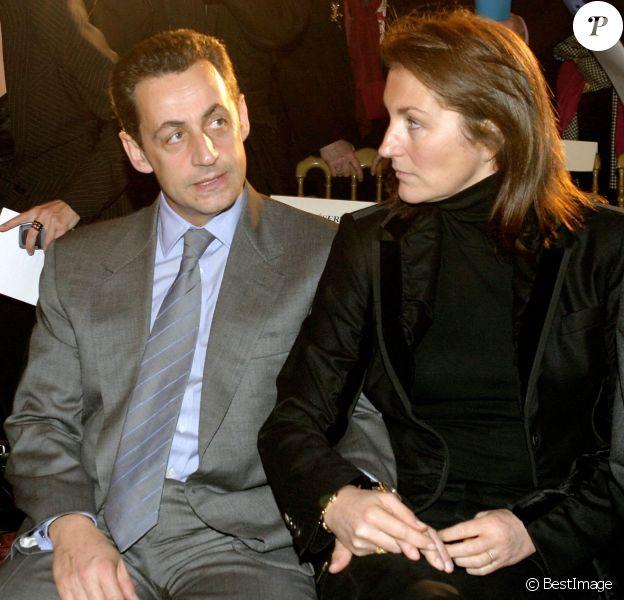 Nicolas Sarkozy et Cécilia en 2004.