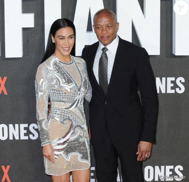 """Dr Dre et sa femme Nicole Threatt - Projection du film """"The Defiant Ones"""" au Ritzy Picturehouse cinéma à Londres, Royaume Uni, le 15 mars 2018."""