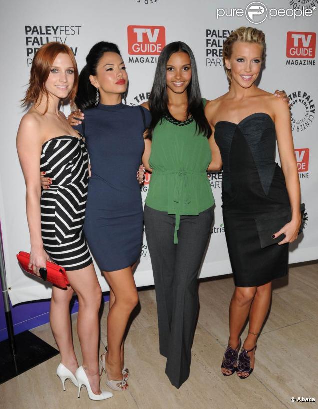 Ashlee Simpson, Stephanie Jacobsen, Jessica Lucas et Katie Cassidy lors de la soirée Paley Fest au Paley Center de Beverly Hills afin de représenter Melrose Place le 14 septembre 2009