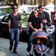 Jude Law se balade avec le premier mari d'Angelina Jolie