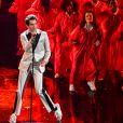 Mika en concert lors de la 70ème édition du festival de Sanremo, le 6 février 2020.