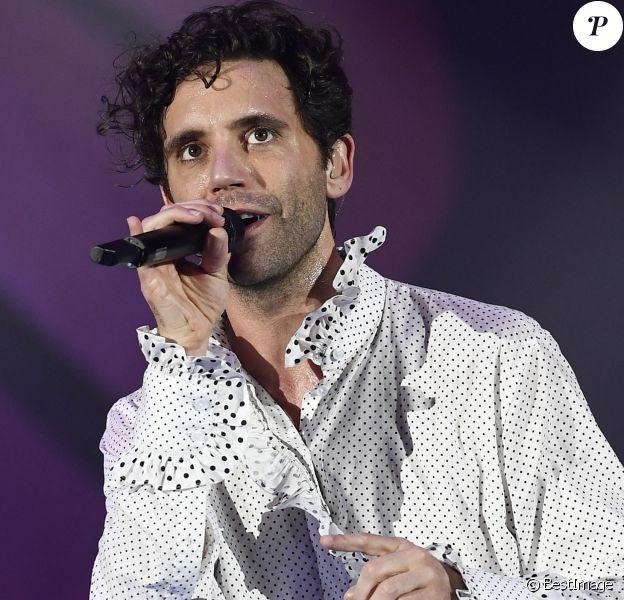 Mika en concert à Padoue en Italie le 1er février 2020.