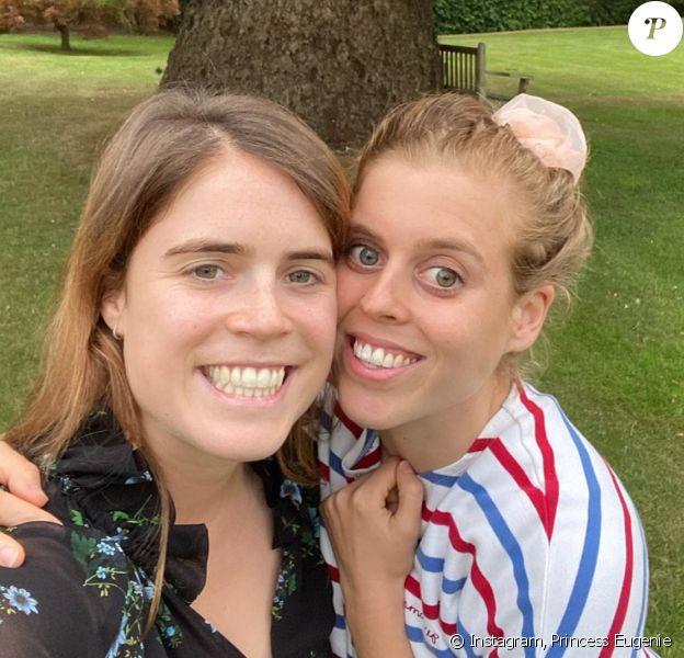 La princesse Eugenie d'York souhaite un joyeux anniversaire à sa soeur Beatrice. Août 2020.