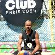 """Tony Parker - Lancement du """"Club Paris 2024"""" avec un tournoi de basket à 4 ans, jour pour jour du début des Jeux Olympiques, le 26 juillet 2020 à Paris. © Veeren/Bestimage"""