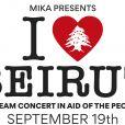 Mika annonce l'organisation d'un concert caritatif en hommage aux victimes de la double explosion survenue à Beyrouth le 4 août 2020