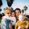 Uma Thurman, Ethan Hawke et leurs deux enfants Maya et Levon. Photo d'archives publiée le 12 décembre 2018.