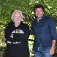 """Niels Arestrup et Patrick Bruel - Photocall du film """"Villa Caprice"""" - Festival du film Francophone d'Angoulême 2020 le 1er septembre 2020. © Guirec Coadic / Bestimage"""