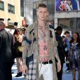 Machine Gun Kelly aux MTV Movie Awards 2015. Los Angeles, le 12 avril 2015.