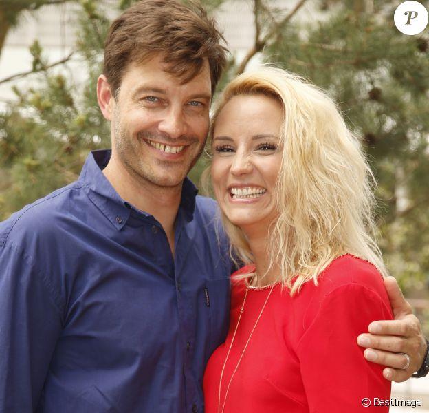 Elodie Gossuin-Lacherie et son mari Bertrand Lacherie - People au village lors des internationaux de tennis de Roland Garros.
