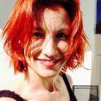 Alexandra Lamy se dévoile rousse. Photo postée le 1er avril 2015.