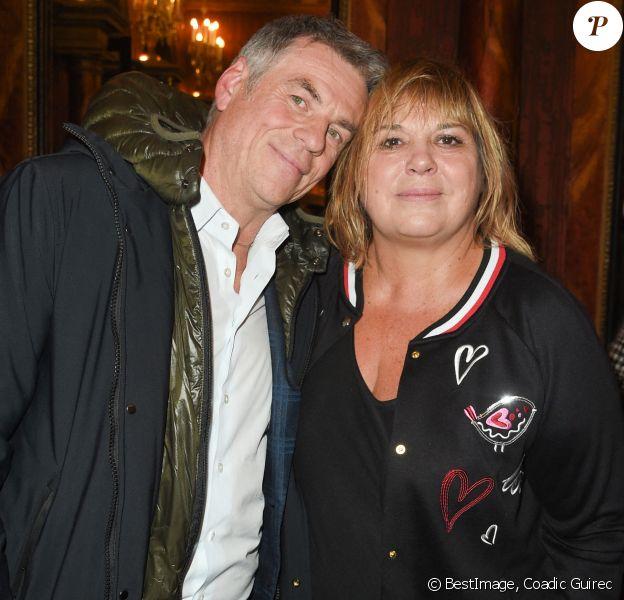 """Bruno Gaccio et Michèle Bernier - People à la générale du woman show """"Vive Demain !"""" de Michèle Bernier au théâtre des Variétés à Paris © Coadic Guirec/Bestimage"""
