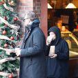 Exclusif - Lily Allen et son compagnon David Harbour font du shopping à Aspen, Colorado, États-Unis, le 4 janvier 2020.