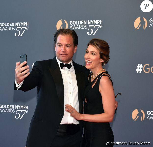 Michael Weatherly et sa femme Bojana Jankovic - Clôture du 57ème Festival de télévision de Monte-Carlo au Grimaldi Forum à Monaco. © Bruno Bebert/Bestimage