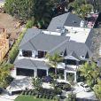 Vue aérienne de la maison de Johnny et Laeticia Hallyday à Pacific Palisades, Los Angeles le 8 février 2014.