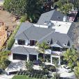 Vue aérienne de la maison de Johnny et Laeticia Hallyday à Pacific Palisades, Los Angeles le 8 février 2014.   General Views of French singer Johnny Hallyday's mansion in Pacific Palisades, Los Angeles, California on February 8, 2014.