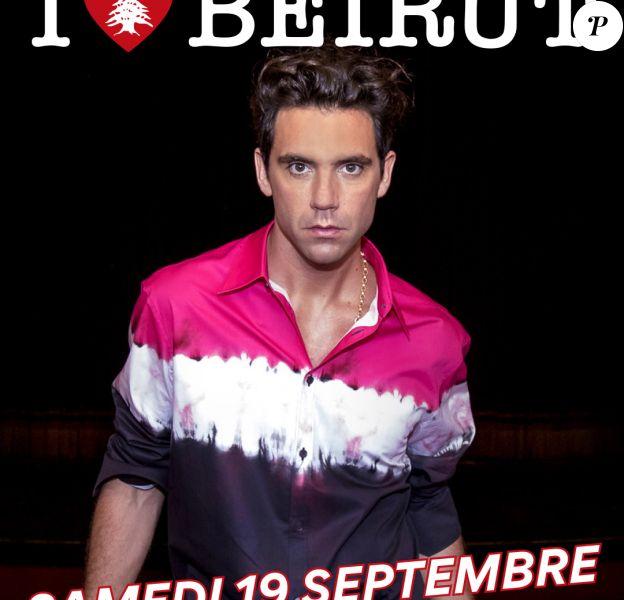 Affiche promo pour le concert organisé par Mika au profit de Beyrouth.