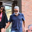 George Clooney et sa femme Amal Alamuddin Clooney sont à New York pour fêter leur 5ème anniversaire de mariage, le 27 septembre 2019
