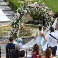 Mariage de Sylvie Meis et Niclas Castello à Florence. Le 19 septembre 2020.