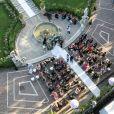 Images aériennes - Mariage de Sylvie Meis et Niclas Castello à Florence le 19 septembre 2020.