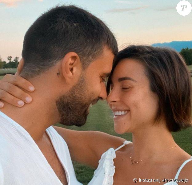 Vincent Queijo et sa fiancée Rym Renom sont devenus parents pour la première fois d'une petite fille - Instagram