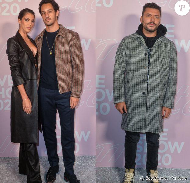 Iris Mittenaere, avec son compagnon Diego El Glaoui, et Kev Adams au défilé Etam Live Show 2020 à Paris.