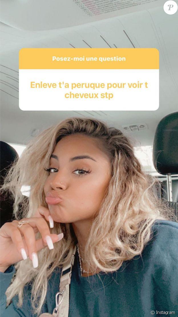Wejdene dévoile ses cheveux au naturel, le 8 octobre 2020 sur Instagram.