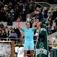 Rafael Nadal remporte les internationaux de tennis de Roland Garros pour la 13ème fois, en battant Novak Djokovic en finale. Paris, le 11 octobre 2020. © Dominique Jacovides / Bestimage
