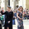 La princesse Eugenie d'York et sa mère Sarah Margaret Ferguson, duchesse d'York - Les invités arrivent au mariage d'Ellie Goulding et C.Jopling en la cathédrale d'York, le 31 août 2019