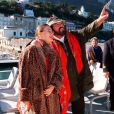 Luciano Pavarotti et son épouse Nicoletta Mantovani en 1996.