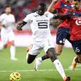M'Baye Niang lors du match Lille - Rennes, le 22 août 2020. © FEP / Panoramic / Bestimage