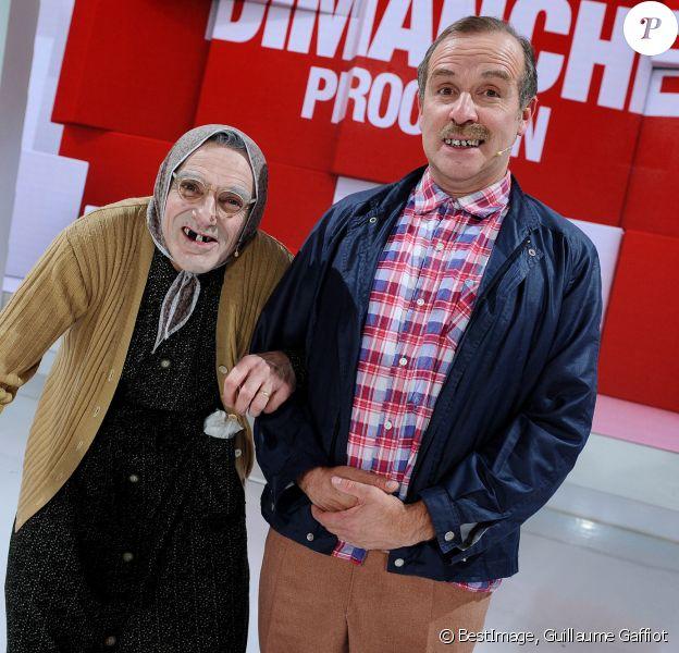 """Exclusif - Les Bodin's - Vincent Dubois et Jean-Christian Fraiscinet - Enregistrement de l'émission """"Vivement Dimanche"""" au Studio Gabriel. © Guillaume Gaffiot / Bestimage"""