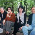 Archives - Le réalisateur Arthur Penn, Marie Laforêt, Liane Foly et Alexandre Arcady lors du Festival de Cognac en 1993.