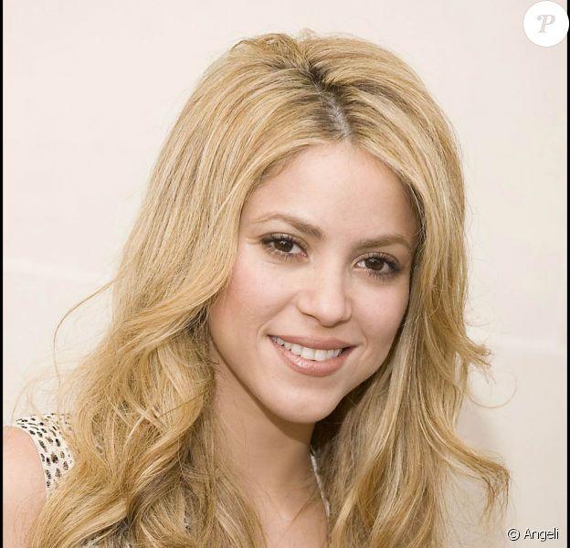 Shakira lors de son passage à l'hôtel George V, à Paris, le 30 septembre 2009