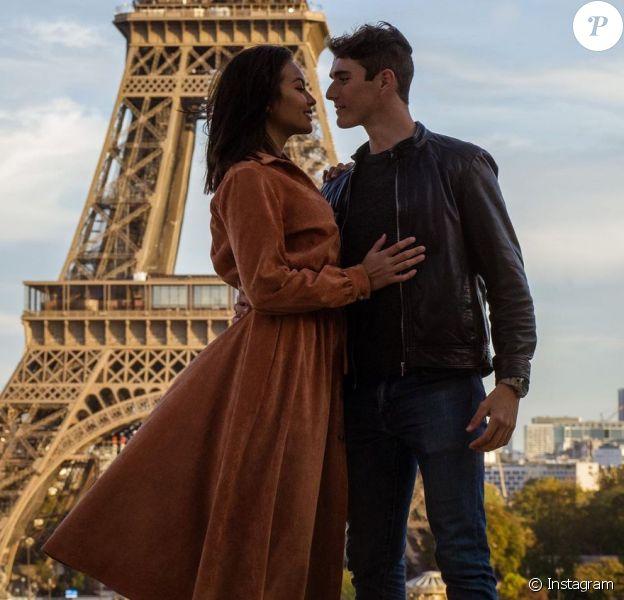 Vaimalama Chaves et son chéri Nicolas Fleury sur Instagram, octobre 2020.