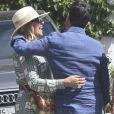 Exclusif - Manuel Valls et sa fiancée Susana Gallardo sont allés dîner au restaurant où ils se sont rencontrés il y a 1 an à Marbella. Le couple a célébré l'anniversaire de sa rencontre. Le 9 juin 2019.