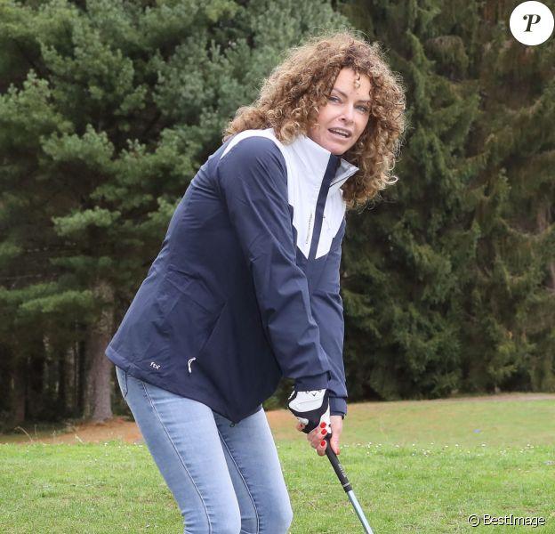 """Exclusif - Manuela Lopez lors de l'opération """"Golf pour tous"""", organisé par l'association Balles Blanches à l'occasion de la premiere edition du """"Festival Écran Jeunesse"""" de Lourdes le 25 octobre 2020."""