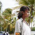 """Exclusif - Sonia Rolland sur le tournage de la série """"Tropiques criminels"""" en Martinique diffusée le 22 novembre sur France 2. Le 8 mai 2019 © Sylvie Castioni / Bestimage"""