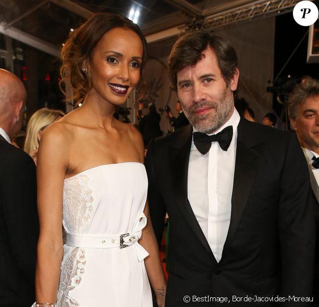 """Sonia Rolland et son compagnon Jalil Lespert - Montée des marches du film """"Le Redoutable"""" lors du 70ème Festival International du Film de Cannes. © Borde-Jacovides-Moreau/Bestimage"""