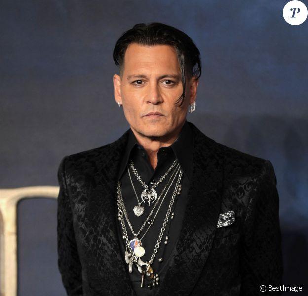 """Johnny Depp - Avant-Première du film """"Les Animaux fantastiques : Les Crimes de Grindelwald"""" au cinéma Cineworld Leicester Square à Londres, Royaume Uni"""