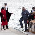 La reine Margrethe et son époux arrivant à la cérémonie organisée par le CIO
