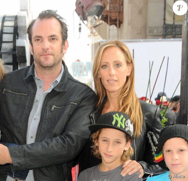 Kim Raver, Manu Boyer et leurs enfants au spectacle du Cirque du Soleil à Los Angeles. @Sara De Boer/Startraks/ABACAPRESS.COM