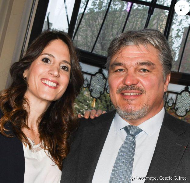 Exclusif - David Douillet et sa femme Vanessa Carrara lors du dîner de gala caritatif pour l'association Autistes Sans Frontières à l'hôtel Marcel Dassault à Paris, France. © Coadic Guirec/Bestimage