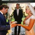 Exclusif - Mariage de Katrina Patchett et Valentin D'Hoore vendredi à 14 h à la mairie de Linselles dans les Hauts-de-France. © Philippe Doignon/Bestimage