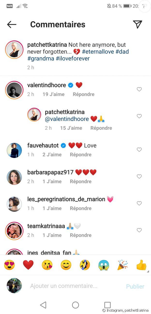 Katrina Patchett soutenue par son ex-mari Valentin sur Instagram, le 20 novembre 2020.