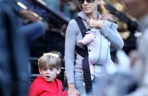 Quand Sarah Jessica Parker pouponne... son mari Matthew Broderick aussi ! Mais c'est chacun sa jumelle...