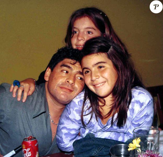 Anniversaire de Diego Maradona, 39 ans, à Buenos Aires en famille avec ses filles Dalma et Giannina.