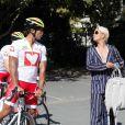Exclusif - Laurent Maistret, Katrina Patchett - Essayage des vélos à la veille de l'étape MCC à Appart'City La Rochelle, le 07 septembre 2020 © Christophe Clovis / Bestimage