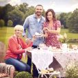 """Mercotte, Cyril Lignac et Julia Vignali dans """"Le Meilleur Pâtissier"""" sur M6."""