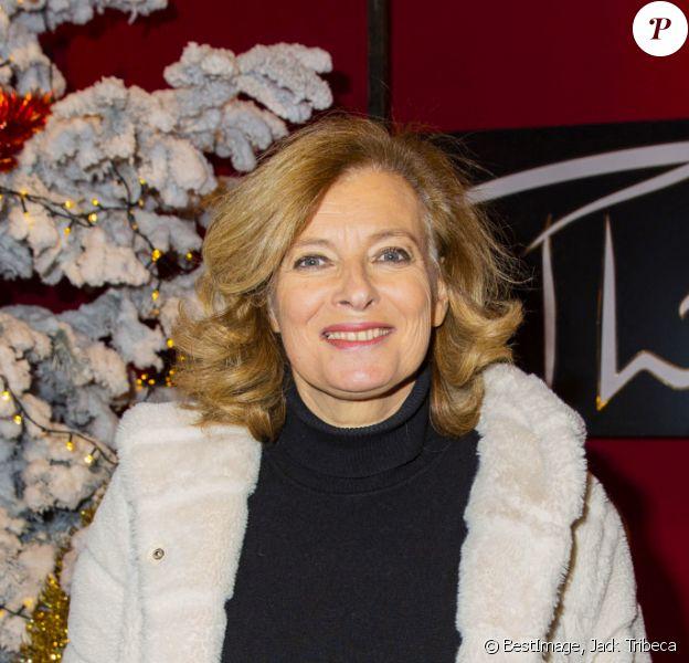 Valérie Trierweiler - Lancement de la campagne des Pères Noël Verts du Secours Populaire au Cirque Phénix à Paris. © Jack Tribeca/Bestimage
